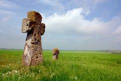 Ancient crosses Stock Photos