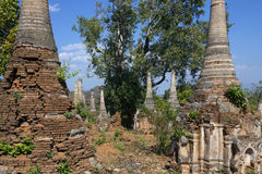 Ancient Crumbling Stupa - Ithein - Myanmar (Burma) Stock Images