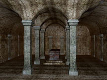 Ancient Crypt. Detailed rendering of an ancient crypt Stock Photography