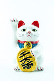 An ancient cultural icon from japan and popular - Lucky cat. Maneki Neko (Japanese Welcoming Cat, Lucky Cat, Cat Swipe, Money cat, or Fortune Cat) - An ancient stock photo