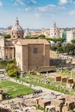Ancient Curia Julia on the Roman Forum, Rome, Italy, Europe royalty free stock photo