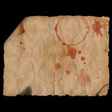 Ancient curled & burned paper. Ancient burned paper with corner curl - digital illustration Royalty Free Stock Photo