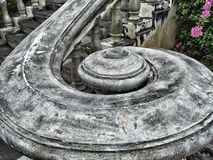 The Ancient Curve Stair at the temple Royalty Free Stock Image