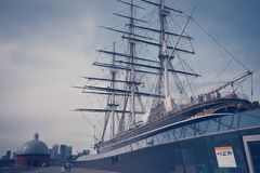 Cutty sark ship in Greenwich - London stock photography