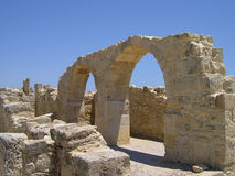 Ancient Cyprus ruins. Ruins of ancient cyprus city Courion destroyed by earthquakes and wars Royalty Free Stock Photo