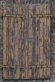 Ancient and Damaged Wooden Shutters Stock Images