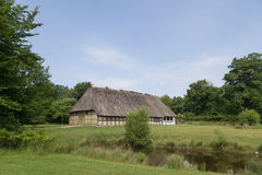 Ancient danish half-timbered farmhouse Royalty Free Stock Photos