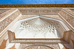 Ancient decorated facade wall in Yazd, Iran Royalty Free Stock Images