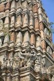 Ancient decoration of mystery animals on pagoda. Ornament: ancient decoration of mystery animals on the pagoda at Wat Rajburana in Ayutthaya, Thailand Royalty Free Stock Photos
