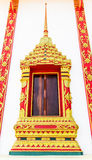 Ancient decorative door of Thai temple Royalty Free Stock Image