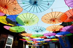 Ancient decorative umbrella Stock Image
