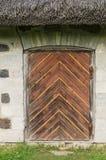 Ancient decorative wooden door Royalty Free Stock Images