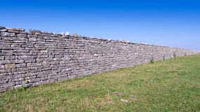 Ancient defense wall Stock Images