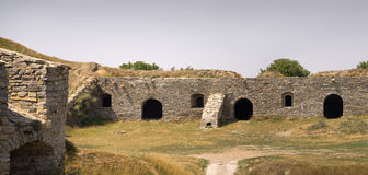 Ancient defenses ramparts Kamenetz-Podolsk fortress Royalty Free Stock Image