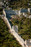 Ancient defensive wall on the hill next to Ston in Croatia Royalty Free Stock Images