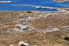 Ancient Delos in Greece Stock Image