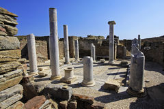 Ancient Delos Ruins, Greece. The ruins of Ancient Delos, near Mykonos, Greece Stock Photography