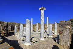 Ancient Delos Ruins, Greece. The ruins of Ancient Delos, near Mykonos, Greece Royalty Free Stock Photo