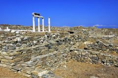 Ancient Delos Ruins, Greece. The ruins of Ancient Delos, near Mykonos, Greece Stock Image