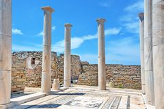 Ancient Delos Ruins, Greece royalty free stock photos