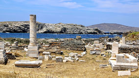 Ancient Delos Ruins, Greece Stock Images