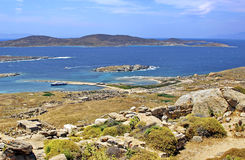 Ancient Delos Ruins, Greece. Ancient temple of Isis at Delos island in Greece Stock Images