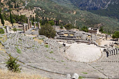 Ancient Delphi in Greece Royalty Free Stock Photos