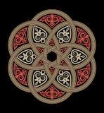 Ancient design. Interweaving rosette of circle Stock Images