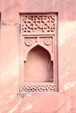 Ancient designer wall. Ancient wall of Red Fort, Agra, India Royalty Free Stock Photo