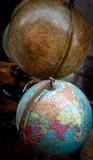 Ancient desktop globe collection Stock Photo