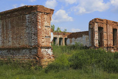 Ancient destroyed brick building Stock Photography
