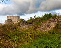 The ancient destroyed fortress. Koporye Royalty Free Stock Photo