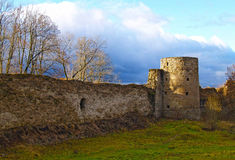 The ancient destroyed fortress in Koporye Royalty Free Stock Photos