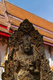 The ancient deva  statue Stock Photos