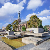 Ancient Dionysius Heikese Kerk, downtown area Tilburg, Netherlands. Royalty Free Stock Image