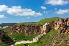 Ancient Diri Baba Mausoleum, 14th Century, Gobustan City, Azerbaijan Royalty Free Stock Image