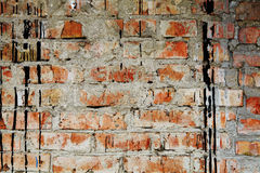 The ancient dirty brick wall Stock Photo