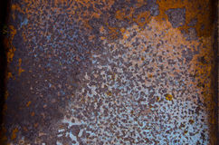 Ancient dirty and rusted metal tin background Royalty Free Stock Photo