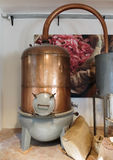 Ancient distiller for the production of perfume in Fragonard fac. Tory in Grasse, France Stock Photography