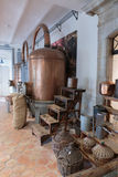 Ancient distiller for the production of perfume in Fragonard fac Royalty Free Stock Photo