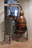 Ancient distiller for the production of perfume in Fragonard fac Royalty Free Stock Images