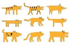 Ancient dog illustration Stock Photo