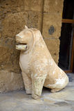 Ancient dog sculpture Royalty Free Stock Photography