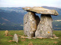 Ancient Dolmen in Oiz mountain. Basque Country, Spain Royalty Free Stock Photo