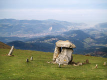 Ancient Dolmen in Oiz mountain Stock Photo