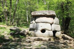 Free Ancient Dolmens In Janet River Valley, Russia, Gelendzhik Stock Photo - 126708940