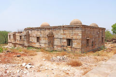 Ancient domed buildings at Pavagadh; Archaeological Park  World Royalty Free Stock Image