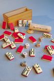 Ancient domino and dice poker games stock image