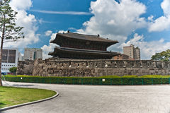 Ancient Dongdaemun East Gate Seoul Royalty Free Stock Photos