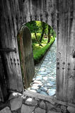 Ancient door. A photo of a ancient door,Bulgaria Royalty Free Stock Photography